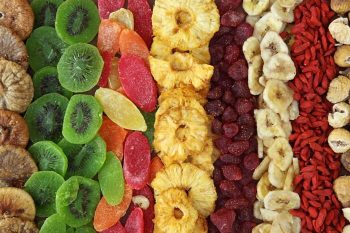 variety of dried fruits full frame