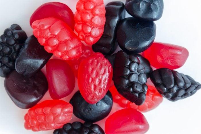berry fruit snacks close up