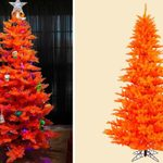 Walmart Is Selling Bright Orange Christmas Trees Perfect for Fall